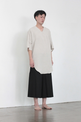 UNISEX_SQUARE NECK TUNIC_bei