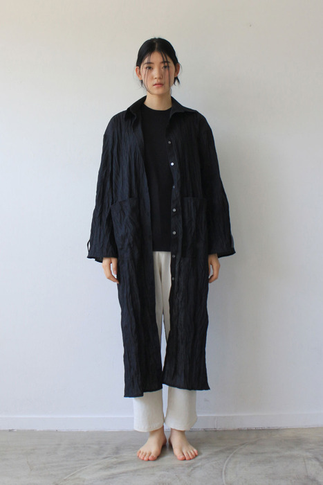 UNISEX_LONG CARDIGAN_BK