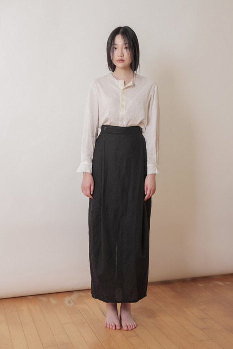 WOMAN_BUTTON BLOUSE_WH