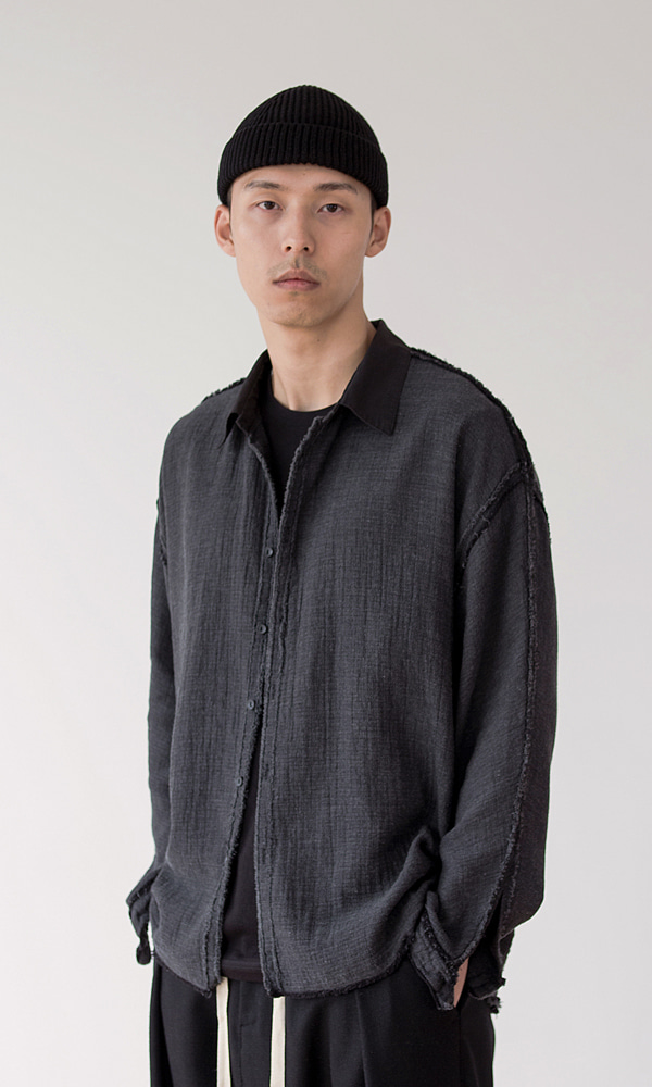 UNISEX_RAW_CUT_GAUZE_SHIRT_DG
